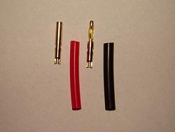 Konektor zlacený - průměr 2mm - 1 pár