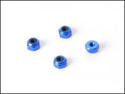 Hliníkové pojistné matice M2 - 4ks