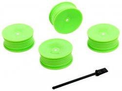 Disky kol - zelené - 4ks