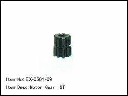 Pastorek - 9z - 5mm - modul 1mm