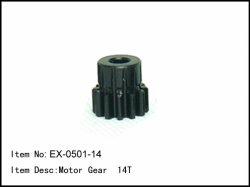 Pastorek - 14z - 5mm - modul 1mm