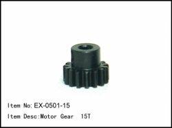 Pastorek - 15z - 5mm - modul 1mm