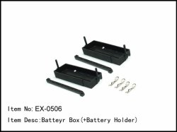 Box včetně držáku akumulátorů - 2ks