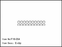 E-clipy pro montáž tlumičů - 20ks