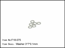 Podložky pod unašeče kol - 6 * 4 * 0,6 mm - 6ks
