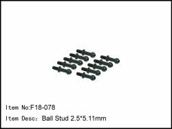 Kulové čepy - dlouhé - 2,5 * 5 mm - 6ks