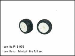 Pneumatiky Mini Pin s bílými disky kol - 2ks