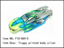 Lexanová karoserie Truggy - stříbrná