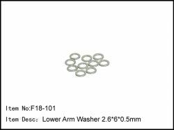 Podložky spodních ramen - 2,6 * 6 * 0,5 mm
