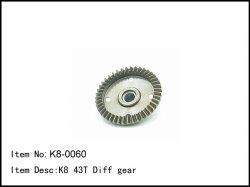 Hlavní ozubené kolo diferenciálu - P + Z - talíř - 43z