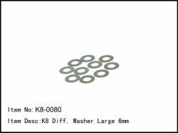 Podložky diferenciálu - velké - 10ks