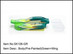 Nalakovaná karoserie + křídlo - zelená