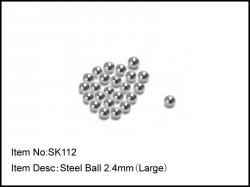 Karbonové kuličky diferenciálu - velké - 2,4mm - 24ks