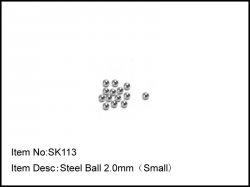 Karbonové kuličky diferenciálu - malé - 2,0mm - 14ks - doprodej