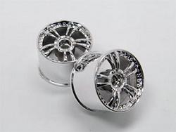 Přední ráfek - stříbrný - 2ks