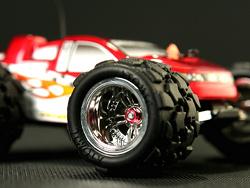Přední ráfek - Monster Truck - stříbrný  - 2ks