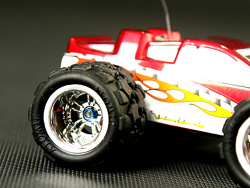 Zadní ráfek - Monster Truck - stříbrný - 2ks