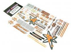 Samolepky Atomic na karoserie - oranžové