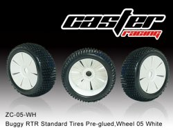 Komplet pneumatiky a ráfku 1/8 Buggy - bílý - 2ks