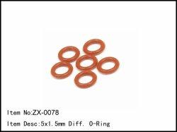 Těsnící O-kroužky diferenciálu - 5 x 1,5mm - 6ks