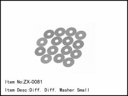 Podložky diferenciálu - malé - 15ks